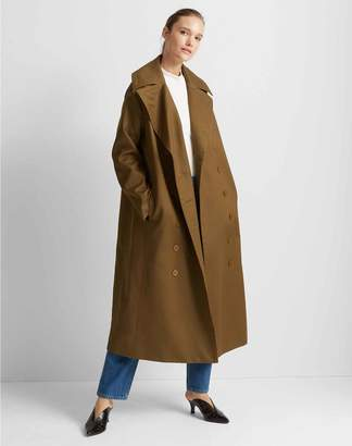 Club Monaco Double-Breasted Long Trench