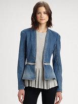 Rebecca Taylor Convertible Denim Flare Jacket