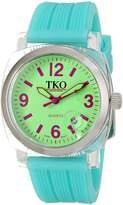 TKO ORLOGI Women's TK558-GT Milano Junior Acrylic Case Dial Watch