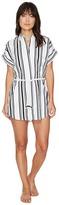 Plush Soleil Striped Linen Beach Dress Women's Dress