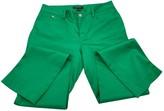 Lauren Ralph Lauren Green Cotton Trousers for Women