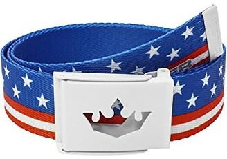 "Meister Player Golf Web Belt - Adjustable Fits Up To 42"" - American Flag"