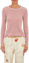 Giada Forte Women's Striped Cashmere-Wool Long-Sleeve T-Shirt-CREAM, RED, WHITE