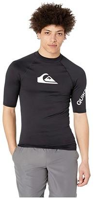 Quiksilver All Time Short Sleeve Rashguard (Black 2) Men's Swimwear