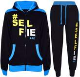 A2Z 4 Kids® Kids Tracksuit Boys Girls Designer's #Selfie Jogging Suit Hoodie Top Bottom 7-13