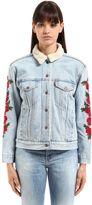 Levi's Embroidered Trucker Cotton Denim Jacket