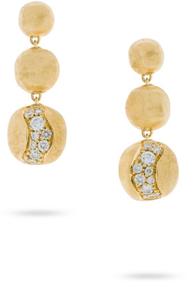 Marco Bicego 18k Gold Africa Diamond Constellation Triple-Drop Earrings