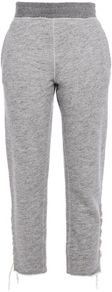 Rag & Bone Amelia Lace-up French Cotton-terry Track Pants