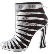 Rodarte Embossed Ankle Boots w/ Tags