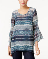 Style&Co. Style & Co. Striped Sheer Top, Only at Macy's