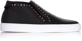 Givenchy Stud-embellished mid-top leather trainers