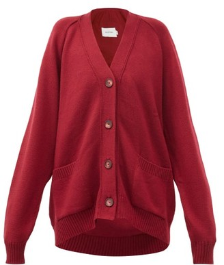 Marques Almeida Oversized Merino-wool Cardigan - Burgundy