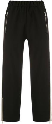 Gloria Coelho Side Stripes Cropped Trousers
