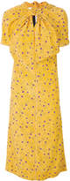 Marni knot detail printed dress
