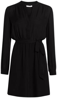 Joie Leonore Tie-Waist Silk Shirtdress