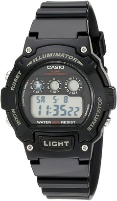Casio Unisex W-214HC-1AVCF Classic Digital Display Quartz Black Watch