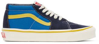 Vans Navy and Blue OG Sk8-Hi LX Sneakers