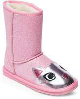 Emu Toddler Girls) Pink & Rose Cat Pull-On Boots