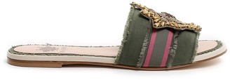 Mr & Mrs Italy Canvas Sandal With Embroidered Medal