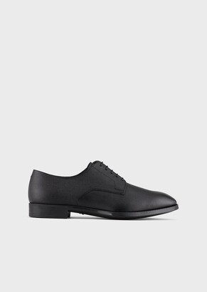 Giorgio Armani Printed-Leather Derbys