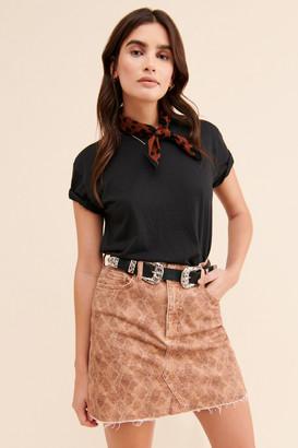 Paige Aideen Raw Hem Mini Skirt