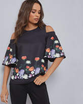 Ted Baker Kensington Floral cutout shoulder top