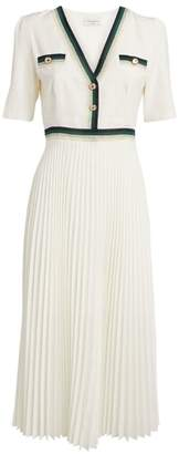 Sandro Paris Pleated Midi Dress