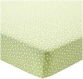 CoCalo Fitted Crib Sheet - Apple Green Dottie