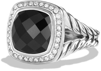David Yurman Albion Ring with Semiprecious Stone and Diamonds