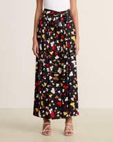 Moschino Black Multicolor Printed Maxi Skirt