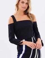 Miss Selfridge Structured Cold Shoulder Shirt