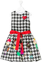 Love Made Love girls and houndstooth print dress