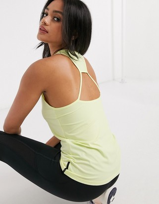 Reebok Training activechill tank top in green