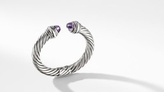 David Yurman Cable Classic Collection Bracelet With Amethyst