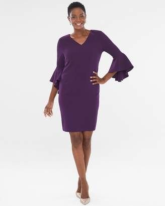 Chico's Chicos Solid Drama-Sleeve Dress