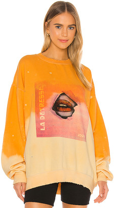 La Detresse Acid Wash Sunrise Break Through Pullover
