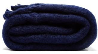 Loewe Anagram Logo-patch Mohair Blanket - Navy