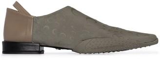 Marine Serre Jacquard Crescent Moon Loafers