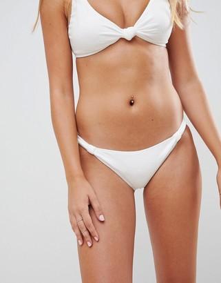 Twiin Knot Textured Bikini Bottom