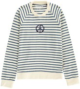 Imps & Elfs Peace Organic Cotton Striped Sweatshirt