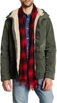 Ben Sherman Faux Shearling Hooded Jacket