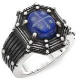 King Baby Studio Lapis and Sterling Silver Cross Ring