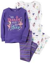 Carter's Baby Girl Graphic Tees & Pants Pajama Set