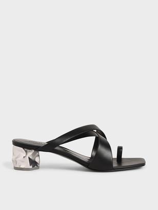 Charles & Keith Toe Loop Criss-Cross Sandals