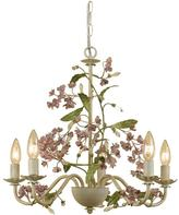 AF Lighting Grace 5-Light Antique Cream Chandelier with Floral Accents