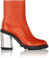 Opening Ceremony WOMEN'S ISA GRAINED LEATHER ANKLE BOOTS-RED SIZE 6