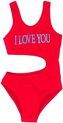 Alberta Ferretti Kids I Love You swimsuit