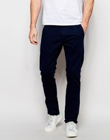 Solid Straight Fit Chinos