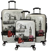 ICE CANADA 3-Piece - Large, Medium and Carry On Suitcase with Wheels, Lock, and Telescopic Handle (LONDON I)