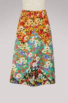 Gucci Wildflowers wool A-line skirt